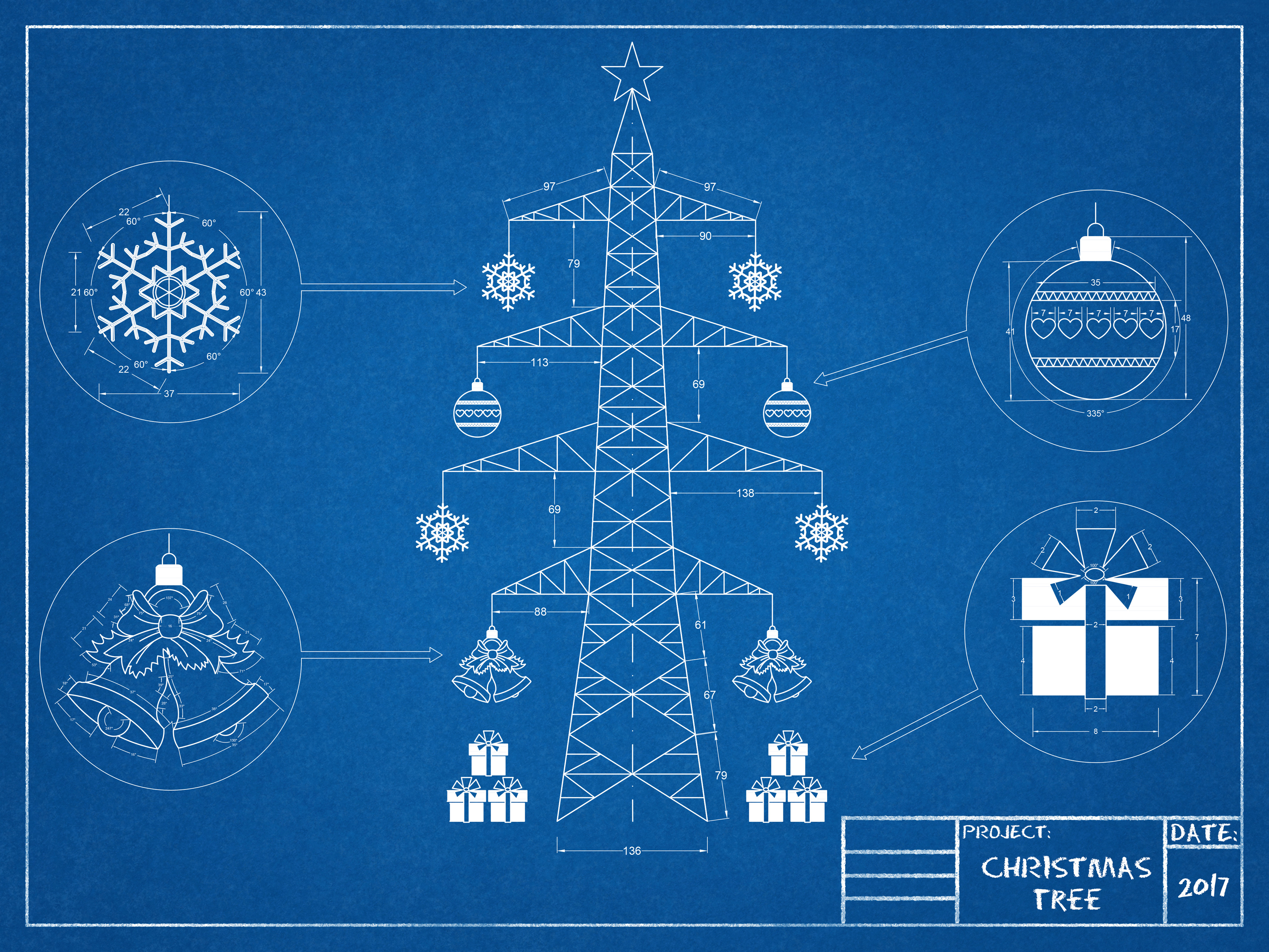Christmas tree - blueprint